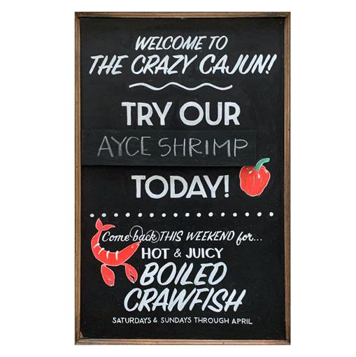 Restaurant Specials Flexboard Sign for Crazy Cajun
