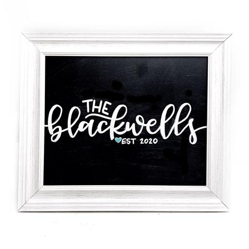 The Blackwells Farmhouse Family Sign