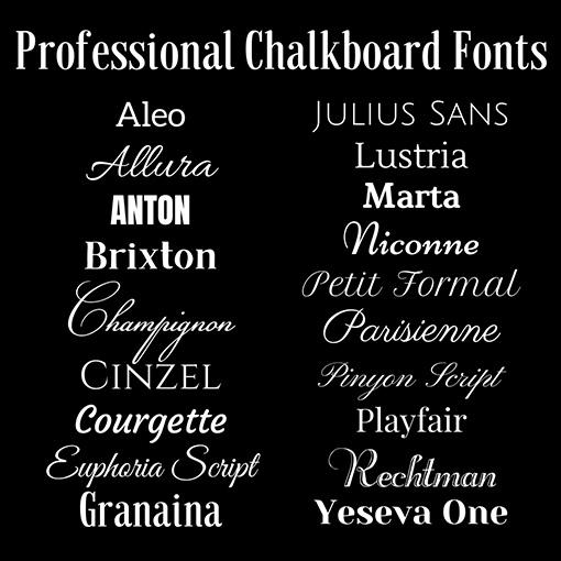 Professional Chalkboard Fonts