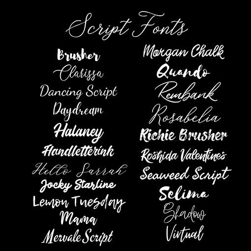 Script Chalkboard Fonts