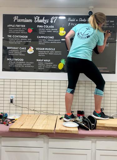 SuppLife Chalkboard Menu Board