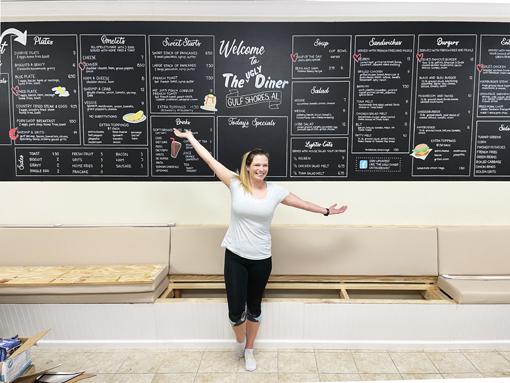 The Ugly Diner XXL Menu Chalkboard