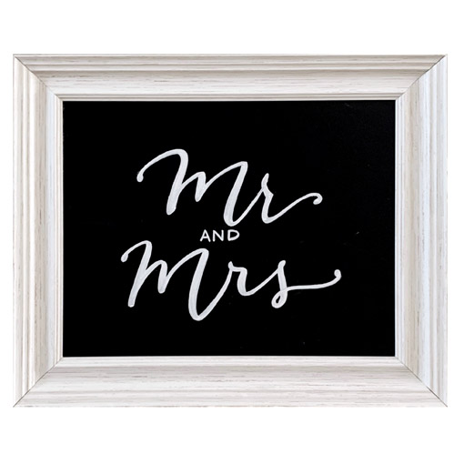 Wedding Welcome Sign Mr and Mrs